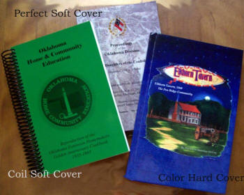 Color hard cover with Coil and Perfect soft cover books