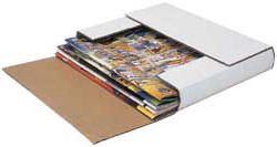 Fold up literature mailers can be used for any books under 3 inches.