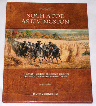 Such a Foe as Livingston - full color artwork book cover sample