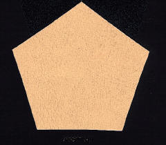 Ashai print hardbinding cover fabric sample: Cream/Tan