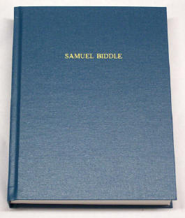 Hard cover, buckram - Samuel Biddle cover example