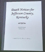Jefferson County, Kentucky Deaths Volume 1 Cover
