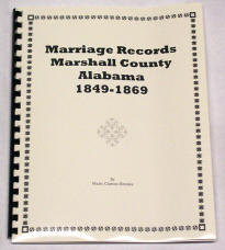 Marriage Records MARSHALL County, Alabama 1849-1869