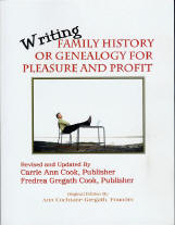 2008 edition of Writing Family History or Genealogy for Fun and Profit cover photo - perfect bound book