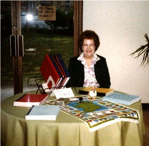 Ann Gregath exhibitiong at a genealogical event