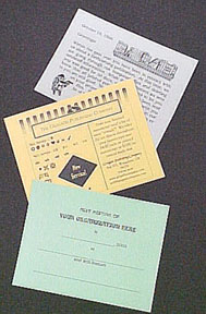 Meeting and Various Announcement Postal Card Examples