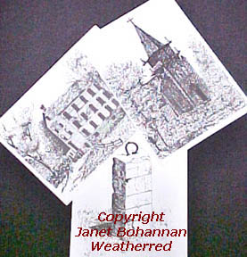 Large Art Post Cards, Copyright Protected by Janet Bohannan Weatherred