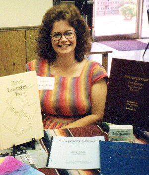 Carrie Cook at Ottawa County Genealogy Society Author Showcase